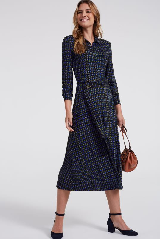 Triangle Print D-Ring Jersey Dress