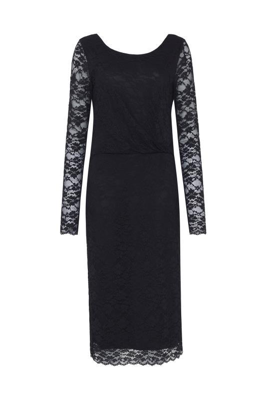 Twist Detail Lace Dress