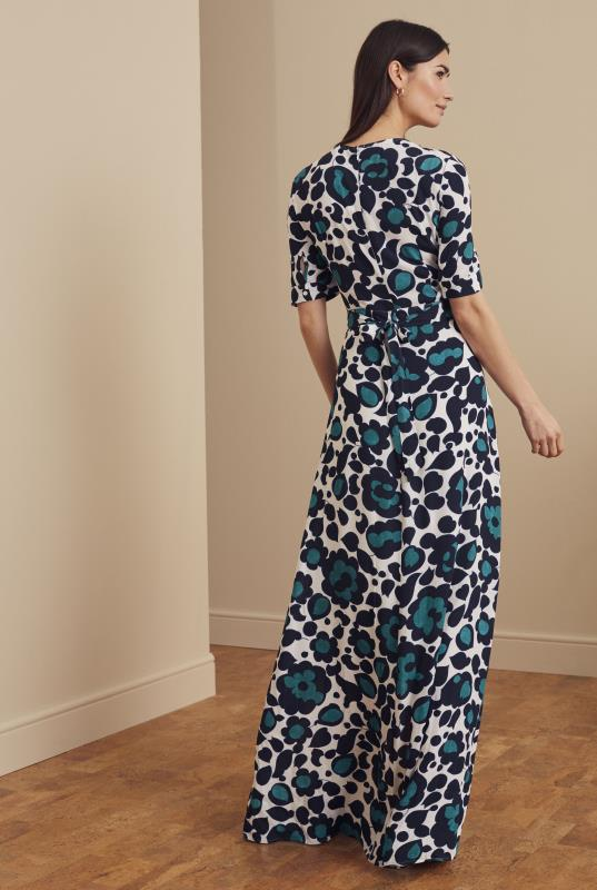 Abstract Floral Fixed Wrap Maxi Dress