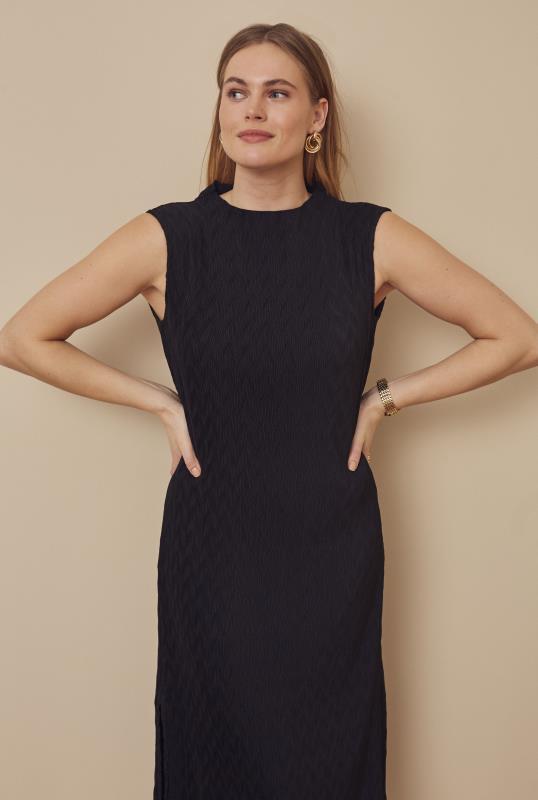 Tall Straight Dress Plisse Midi Dress