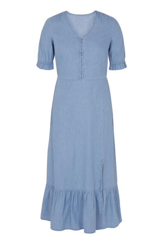 Denim Chambray Smock Dress