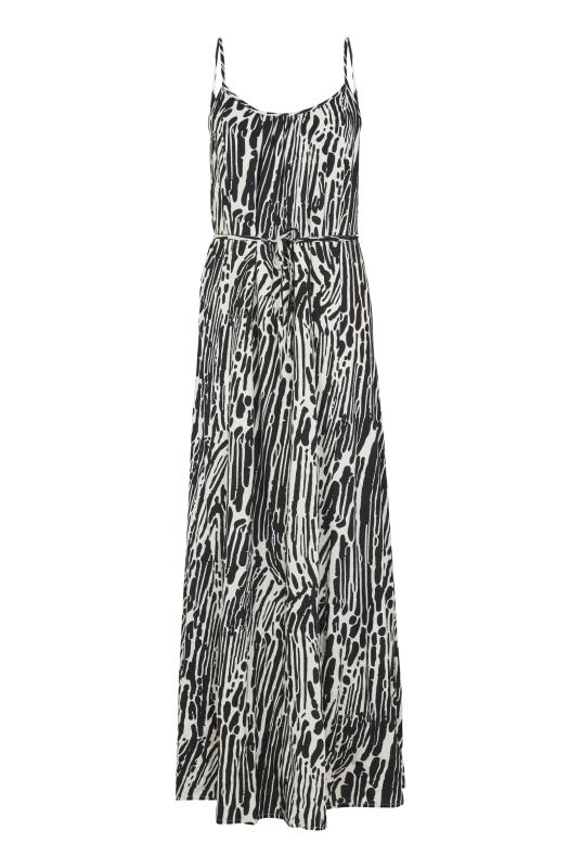 Black & White Printed Maxi Dress
