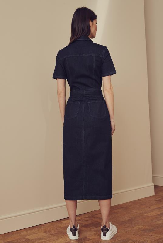 Blue Denim Pencil Dress