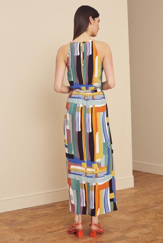 Multi Bright Abstract Print Sleeveless Sundress