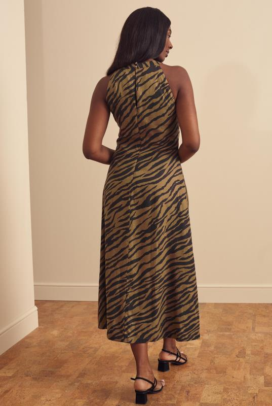 Linen Blend Key Hole Dress