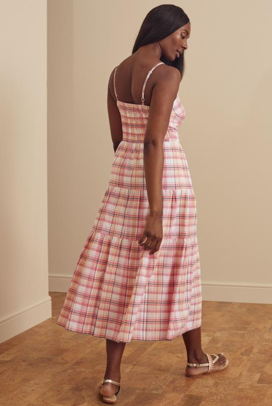 Checked Tiered Cotton Summer Dress