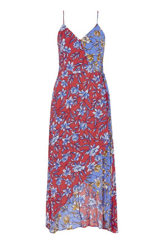 Mix Floral Print Wrap Front Dress