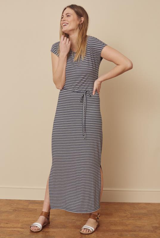 Easy Jersey Stripe Midi Dress