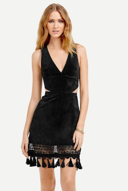 Black Ttya x lts Tassel Dress