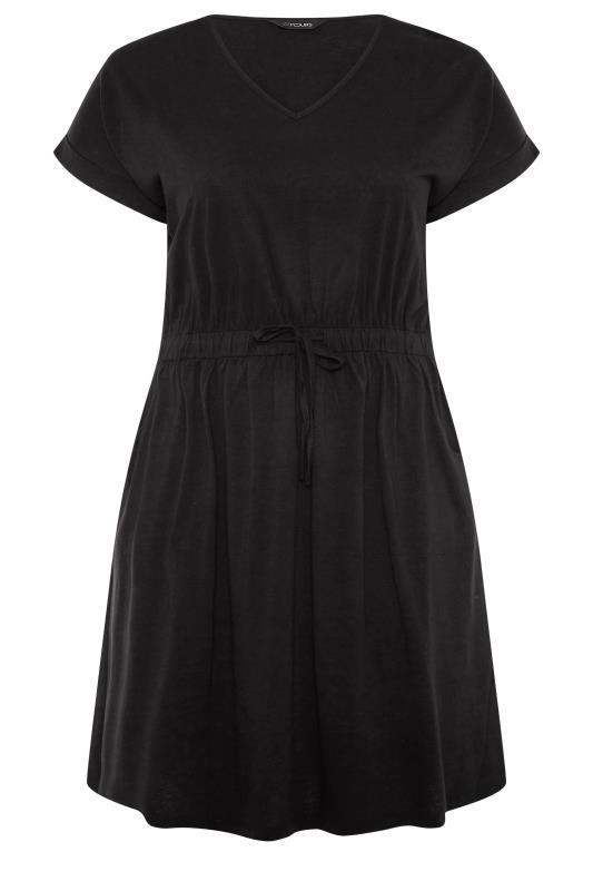 Black Jersey T-Shirt Mini Dress_F.jpg