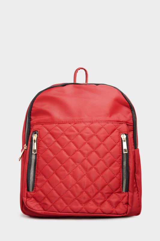 Red Quilted Backpack