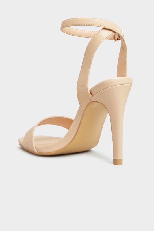 LIMITED COLLECTION Nude Strappy Two Part Heels In Extra Wide Fit_C.jpg