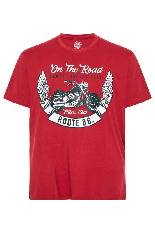 Men's  KAM Red 'Route 66' T-Shirt