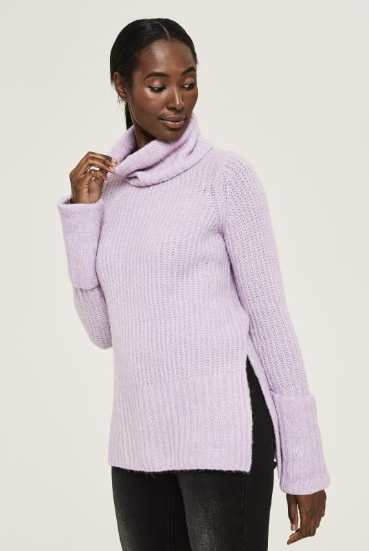 Tall Sweaters & Jumpers Y.A.S Lilac Tall Ylva Knitted Jumper