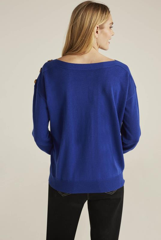 Button Neck Detail Sweater
