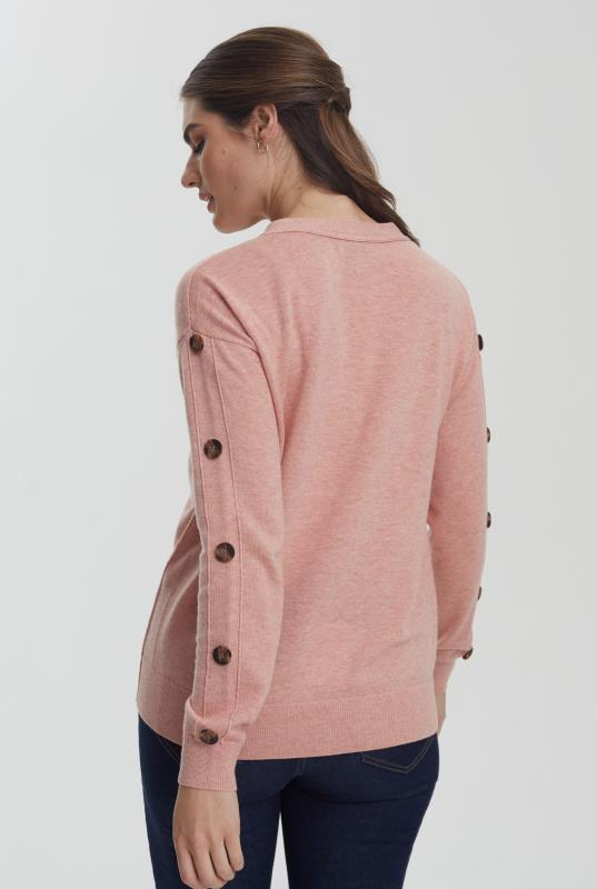 Pink Button Sleeve Jumper
