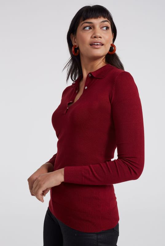 Polo Neck Long Sleeve Sweater