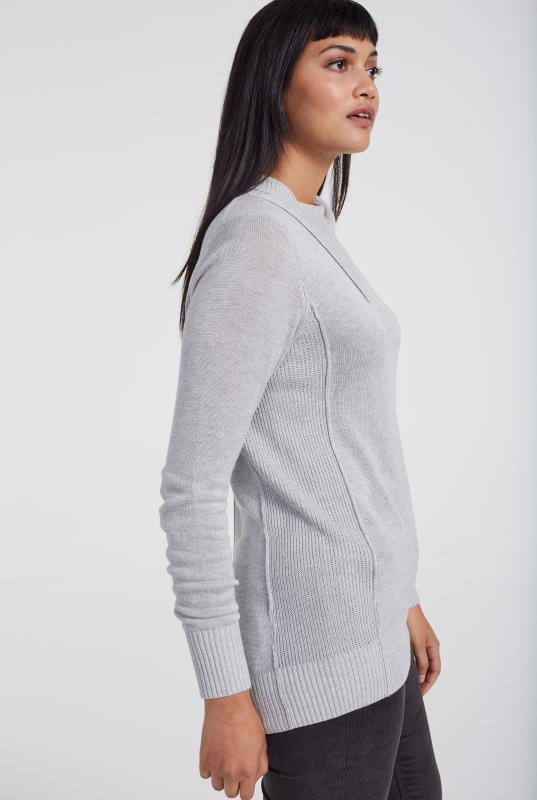 Cashmere Blend Split Neck Sweater