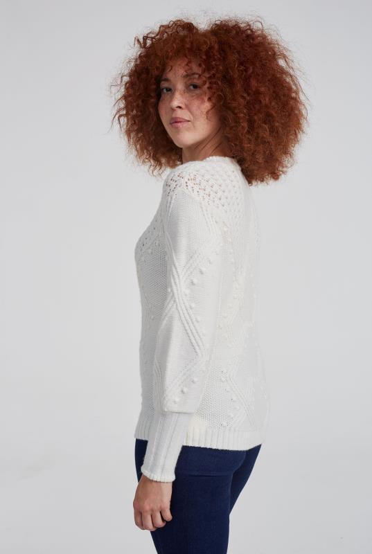 Bobble Detail Cable Stitch Sweater