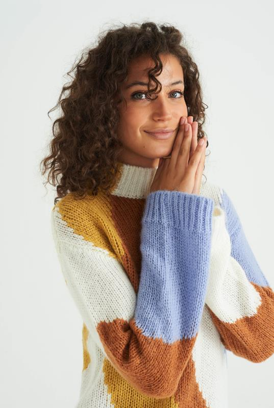 Wool Blend Colour Block Sweater