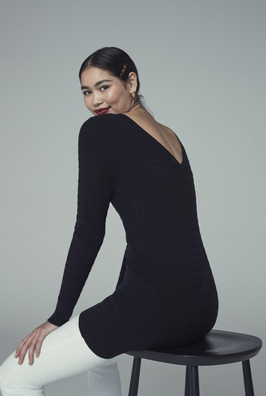 Tall Tunics Black V-Neck Back Tunic