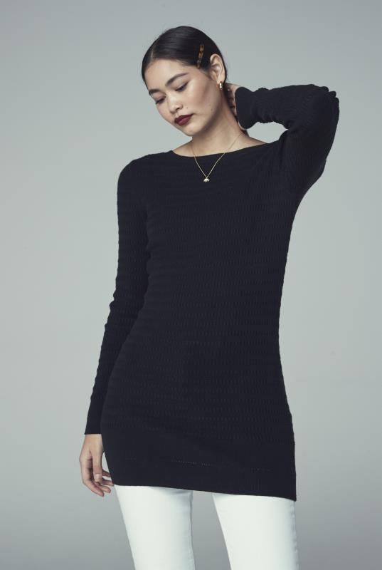 Black V-Neck Back Tunic