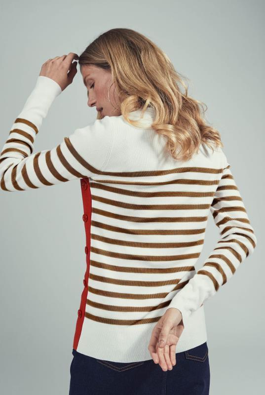 Side Button Breton Sweater