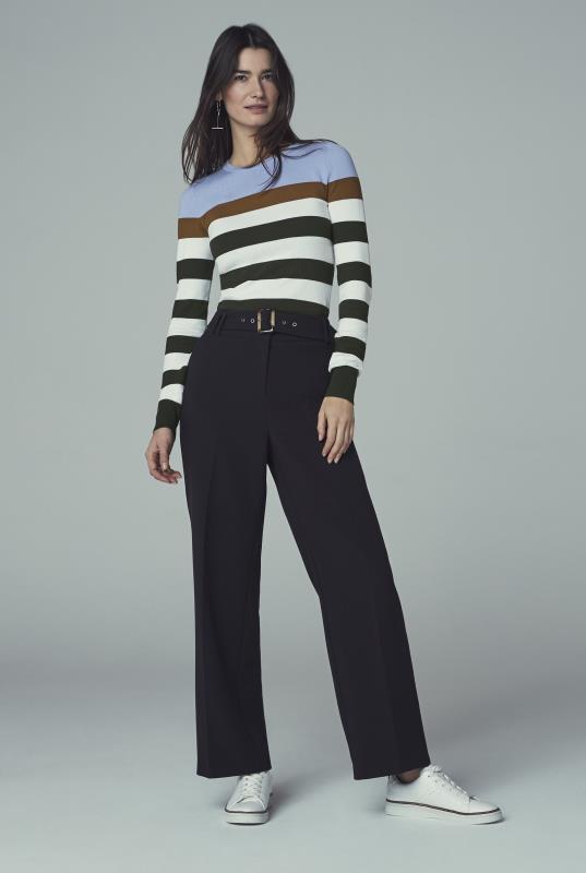 Black & White Striped Jumper