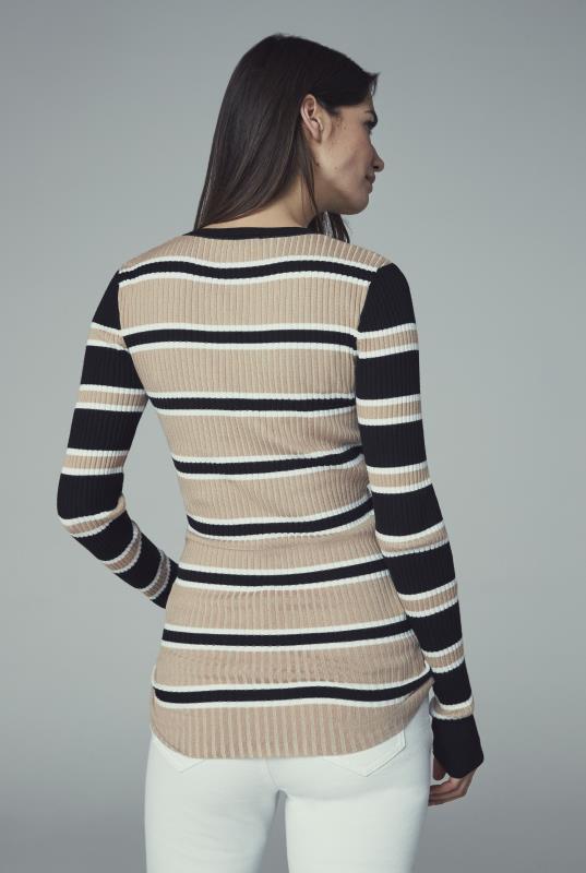 Ribbed Stripe Sweater