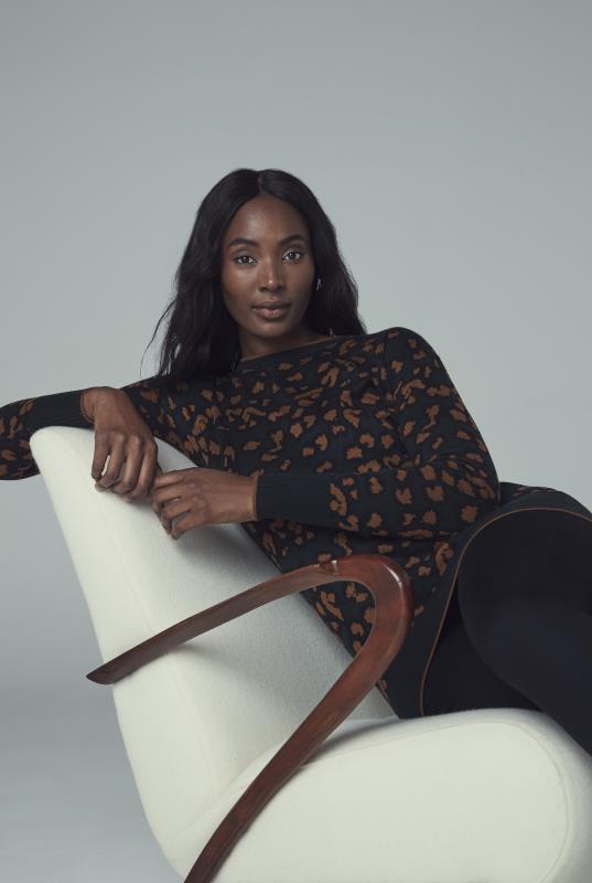 Black Animal Jacquard Sweater