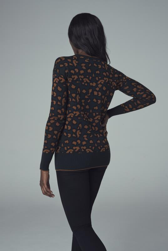 Black Animal Jacquard Sweater