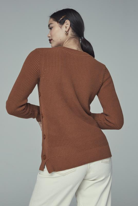 Brown Button Detail Jumper