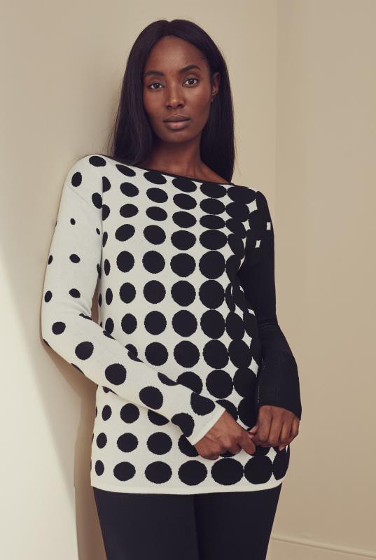 Black & White Spot Sweater