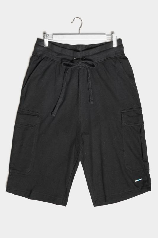 Men's  BadRhino Black Essential Cargo Jogger Shorts
