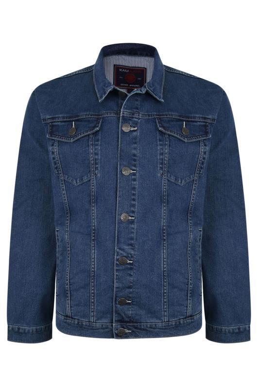 Men's  KAM Mid Blue Denim Jacket