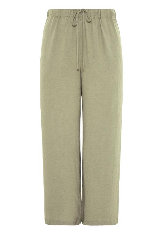 THE LIMITED EDIT Olive Green Wide Leg Trousers_F.jpg