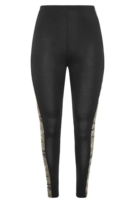 LIMITED COLLECTION Black Camo Side Panel Leggings_F.jpg