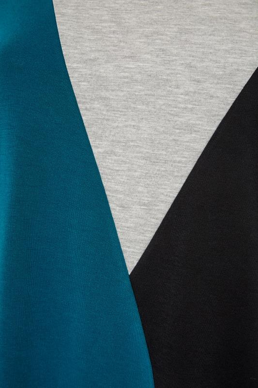 LIMITED COLLECTION Teal Colour Block T-Shirt_S.jpg