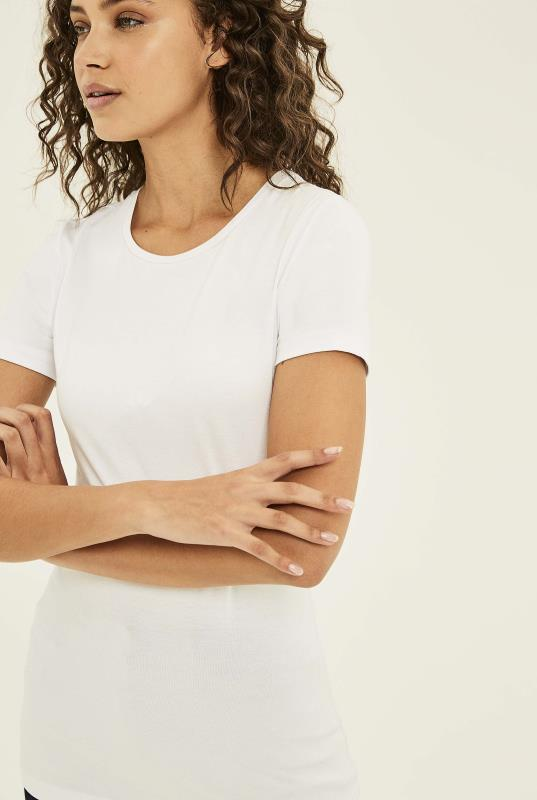 White Short Sleeve Cotton Crew Neck Tee