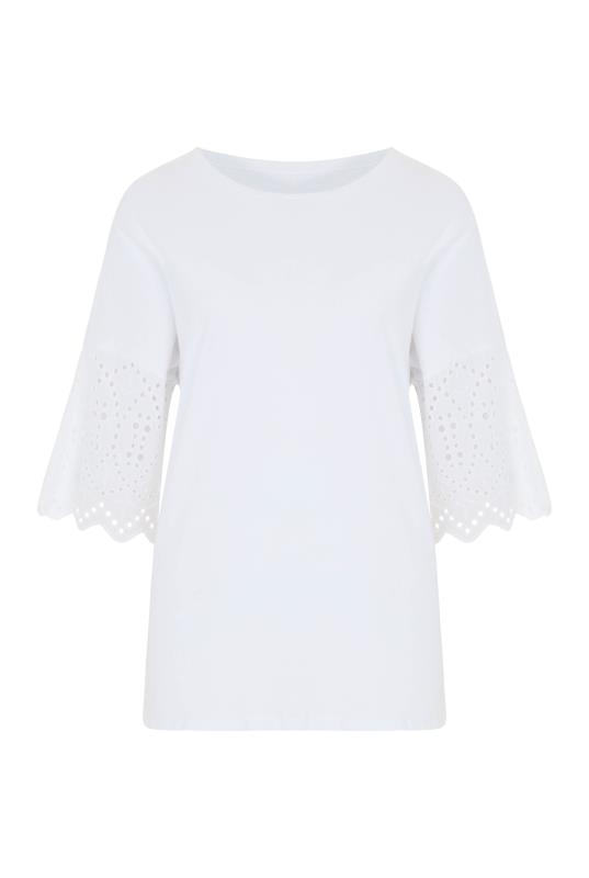 Cotton Broderie Sleeve Top