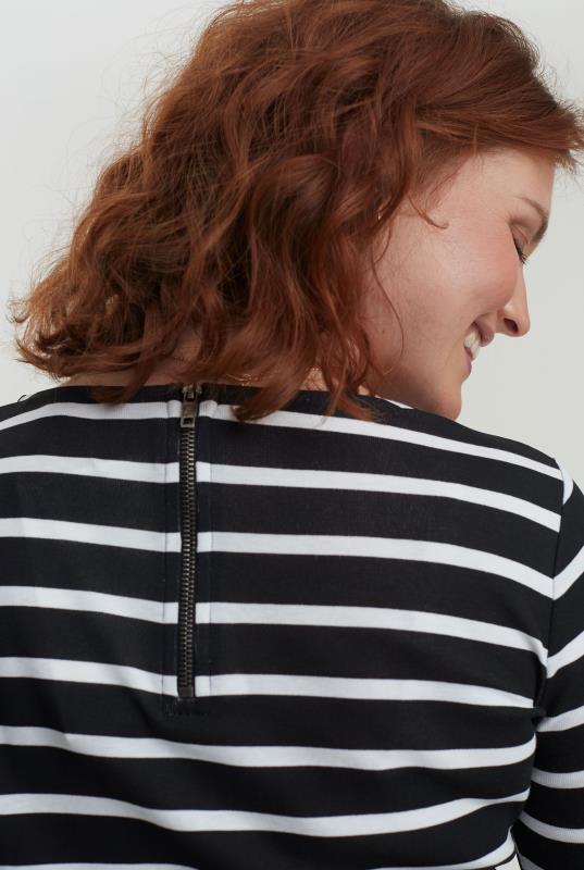 Black & White Striped Breton Tunic