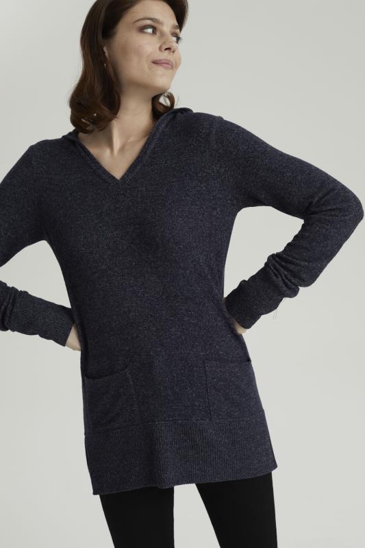 Tall Sweatshirts & Hoodies Navy V-Neck Hoodie