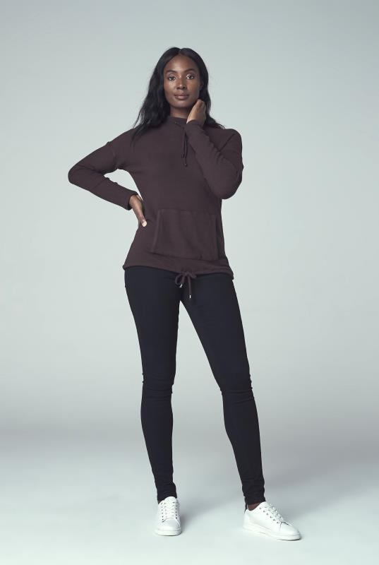 Brown Funnel Neck Sweatshirt
