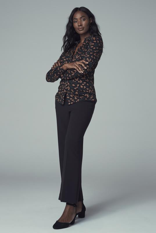 Brown Leopard Print Jersey Shirt