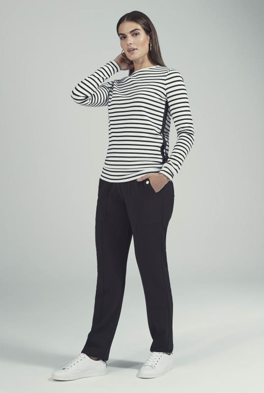 Stripe Interlock Sweat Top