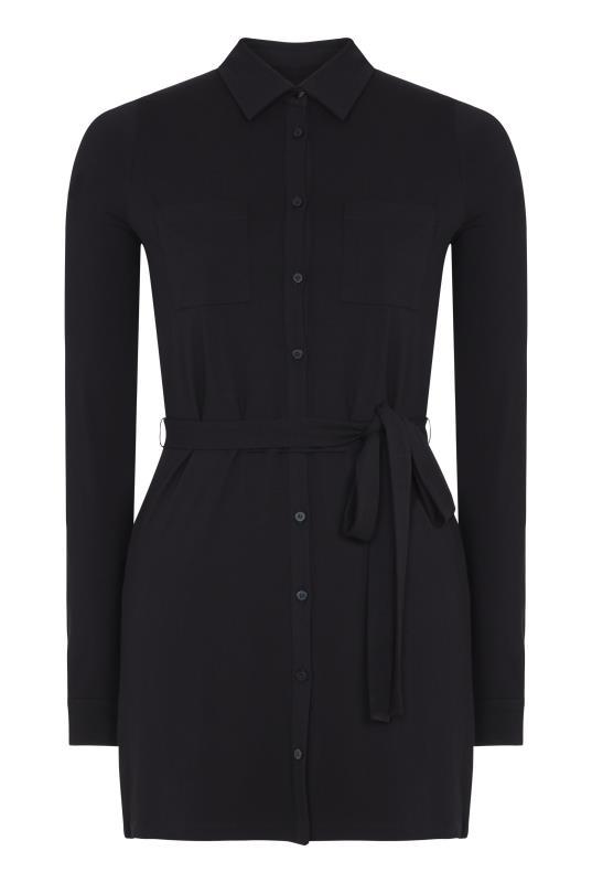 Black Shirt Tunic With Belt