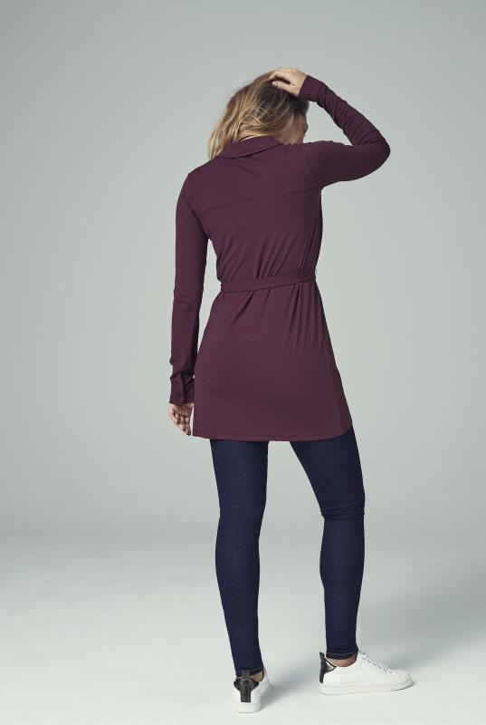 Purple Shirt Tunic With Belt