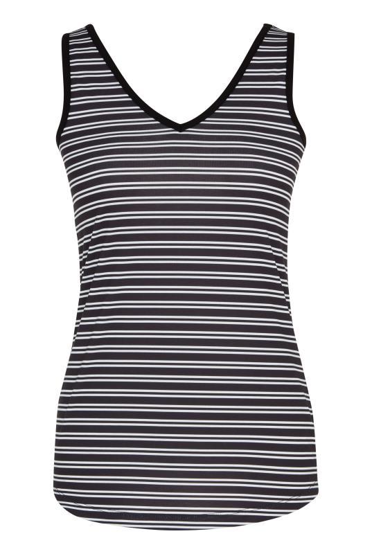 Black & White Stripe V Neck Tank Top_3.jpg