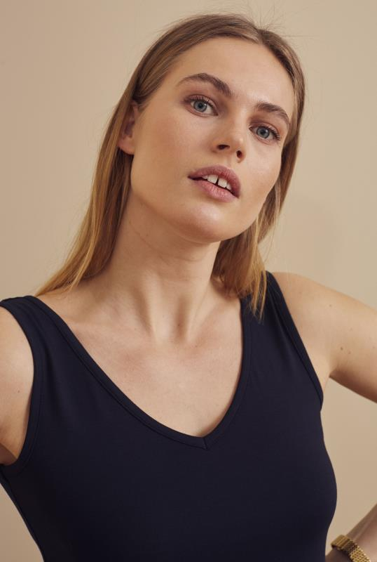 Navy V Neck Tank Top