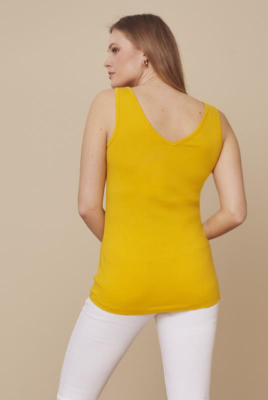 Yellow V Neck Tank Top